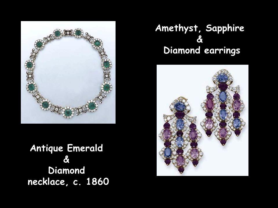 Amethyst and Diamond necklace Amethyst, Pearl & Diamond brooch