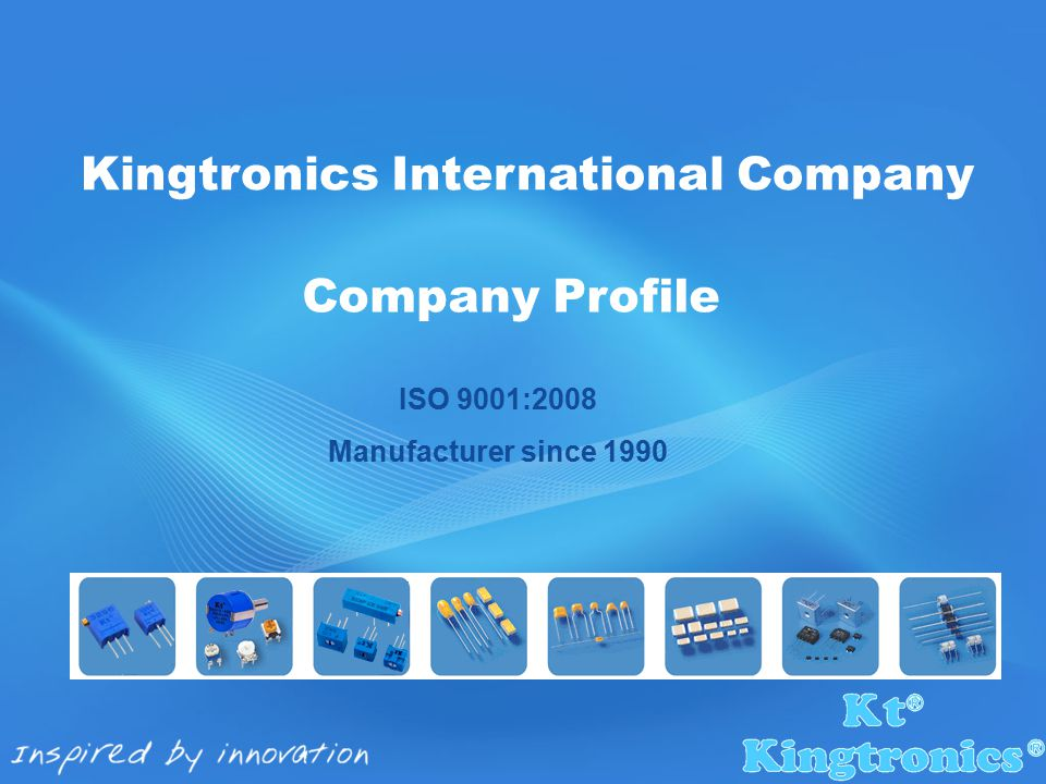  1990 Kingtronics established first factory producing trimming potentiometer in Chengdu.