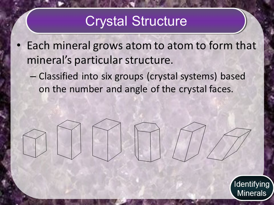 Cleavage Cleavage- is a mineral that easily splits along flat surfaces. Identifying Minerals