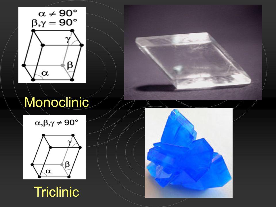 Monoclinic Triclinic