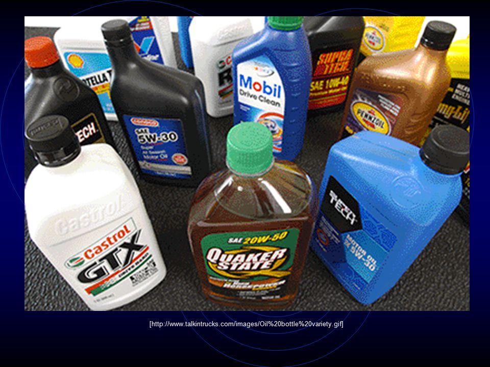 [http://www.talkintrucks.com/images/Oil%20bottle%20variety.gif]