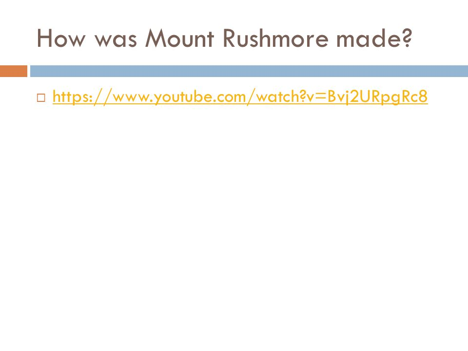 How was Mount Rushmore made.