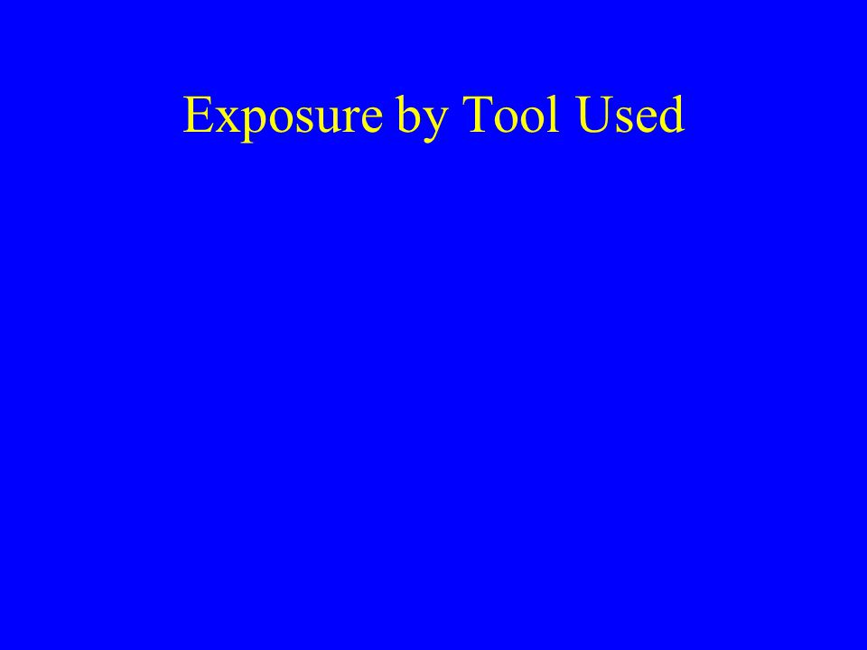 Exposure by Tool Used