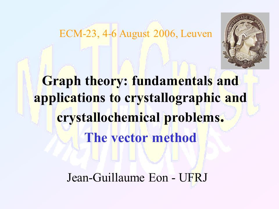 Summary Motivation Fundamentals of graph theory Crystallographic nets and their quotient graphs Space group and isomorphism class Topological and geometric properties
