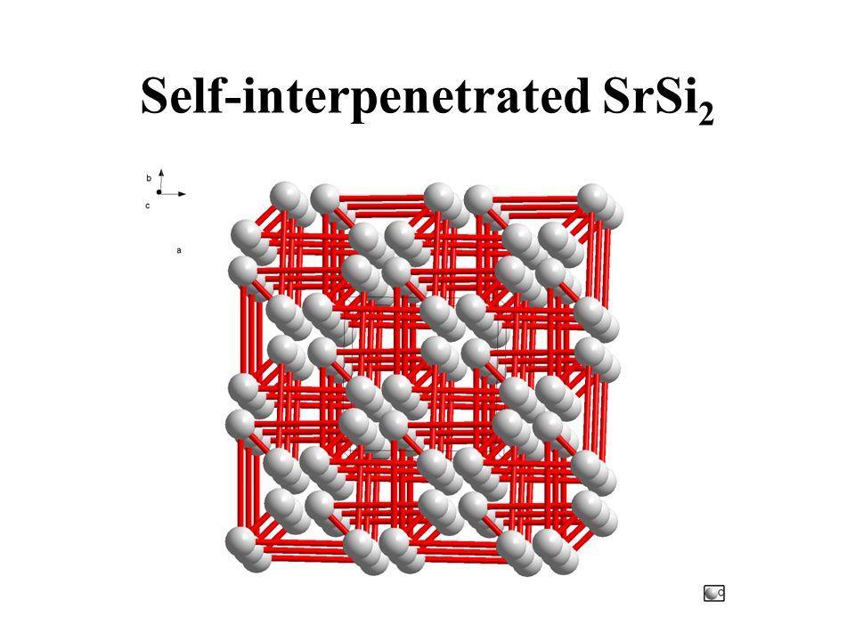 Self-interpenetrated SrSi 2