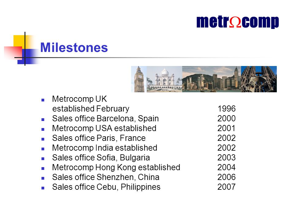 Why Metrocomp.Highly qualified, committed and long serving employee's.