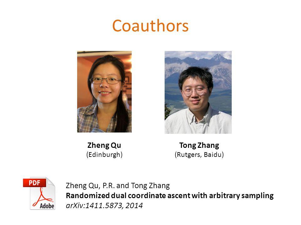 Coauthors Zheng Qu (Edinburgh) Zheng Qu, P.R.