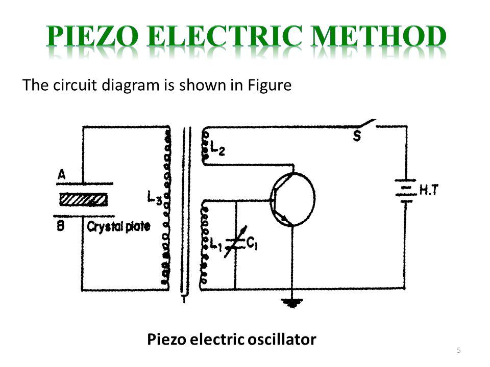 5 The circuit diagram is shown in Figure Piezo electric oscillator