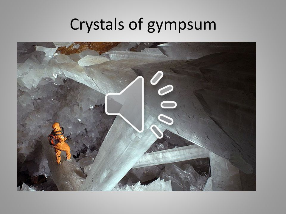 Crystals of gympsum