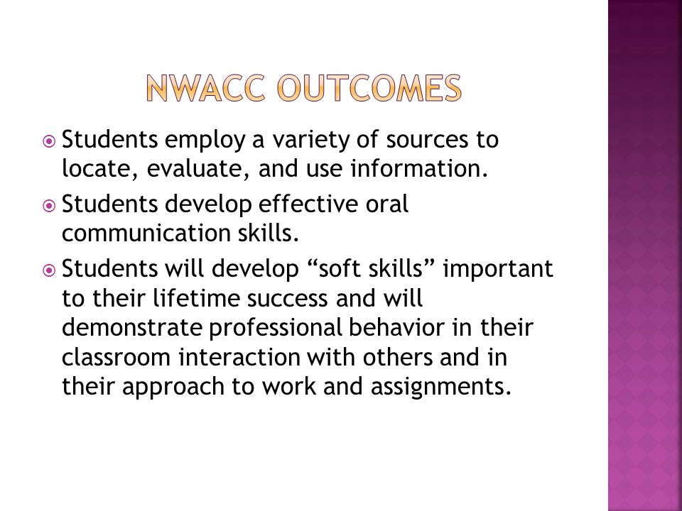  Students employ a variety of sources to locate, evaluate, and use information.