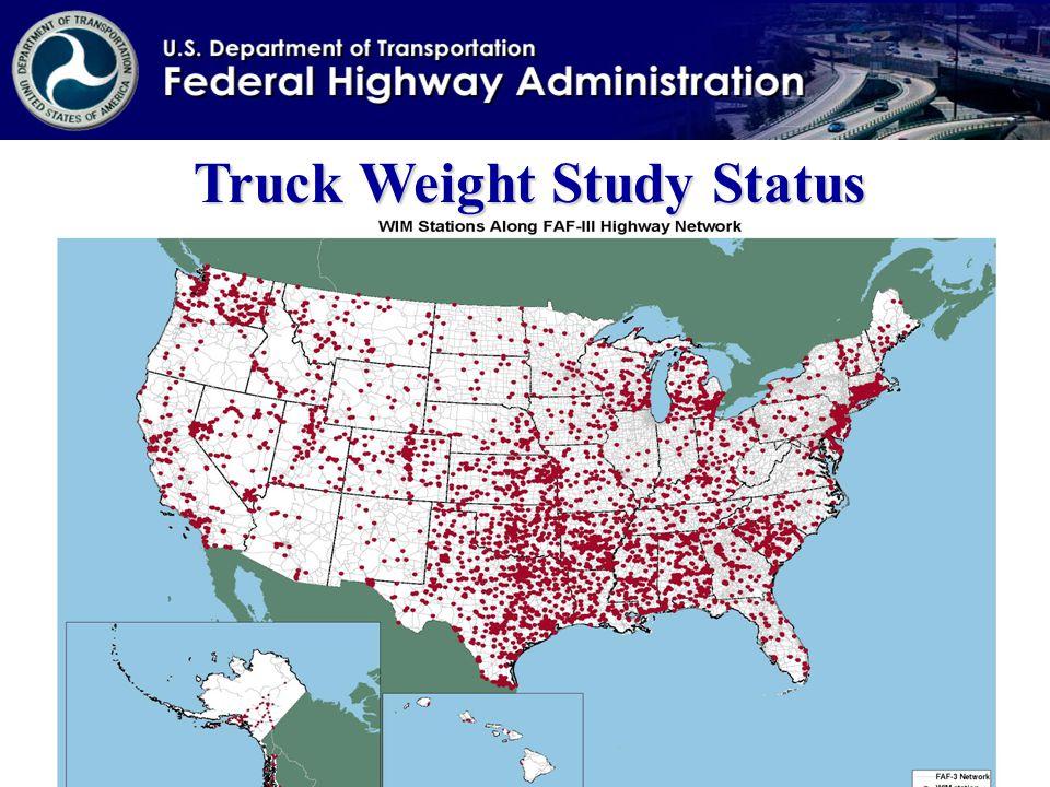 Truck Weight Study Status