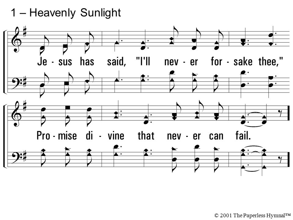 1 – Heavenly Sunlight © 2001 The Paperless Hymnal™