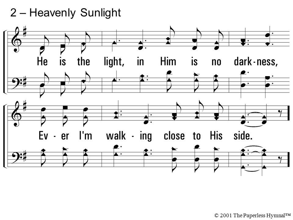 2 – Heavenly Sunlight © 2001 The Paperless Hymnal™