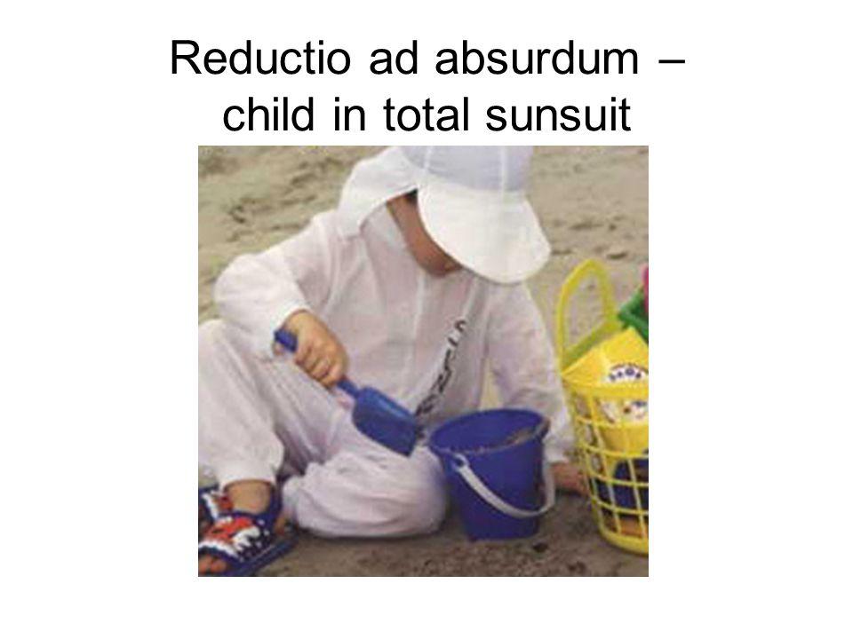Reductio ad absurdum – child in total sunsuit
