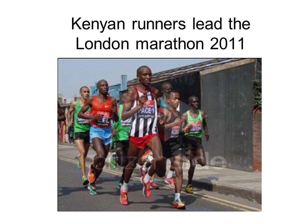 Kenyan runners lead the London marathon 2011