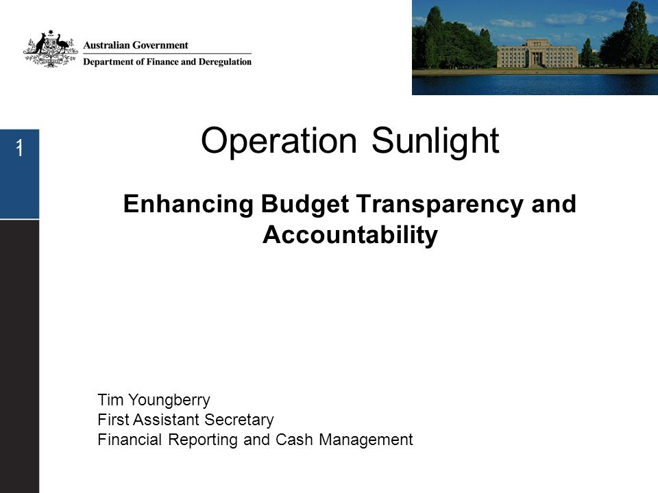 12 Outcomes/programs structure agreed with all agencies Financial data to be comprehensive for each program (including allocation of departmental expenses) Changes also to 2009-10 annual reporting Should result in better quality submissions to Government for new policy proposals (more evidence based policy) Program Reporting Improving budget papers