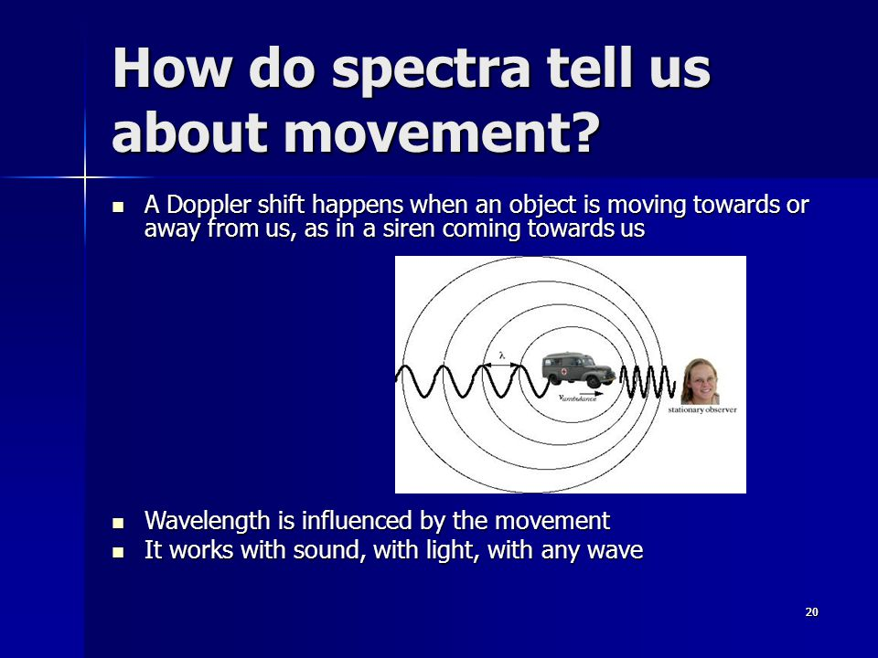 2020 How do spectra tell us about movement.