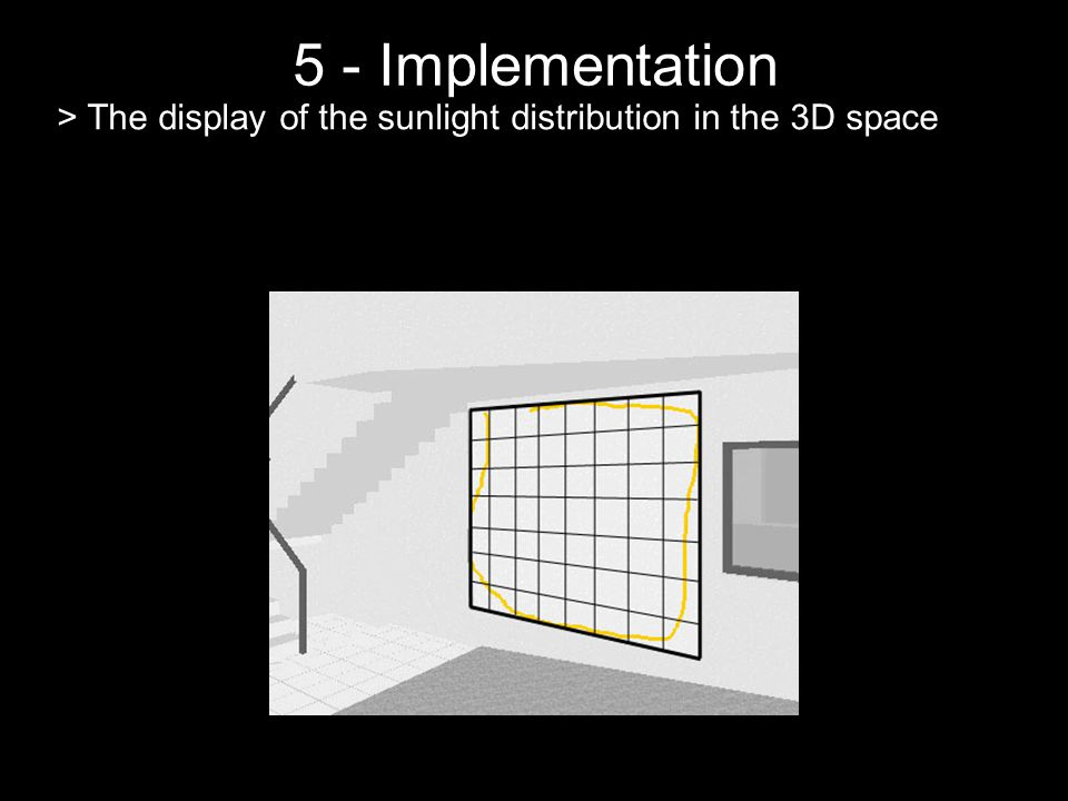 5 - Implementation > The display of the sunlight distribution in the 3D space