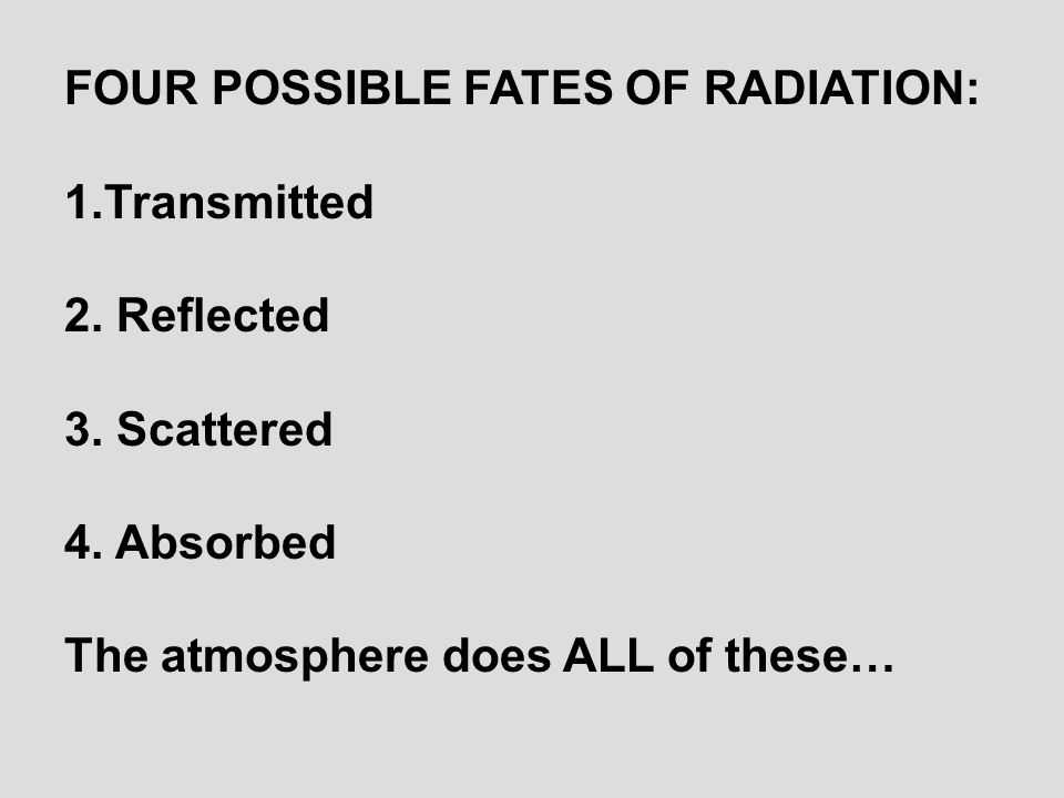 Transmitted: Radiation passes through object SUNLIGHT GLASS WINDOW TRANSMITTED SUNLIGHT