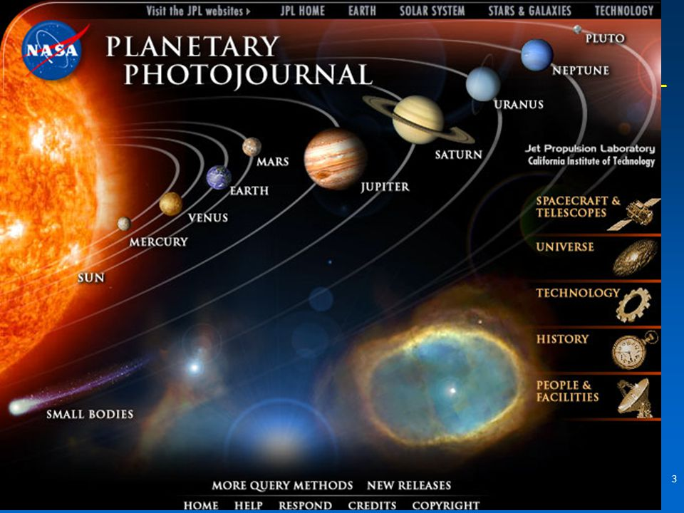 """3 The Solar System  """"The nine planets""""The nine planets"""