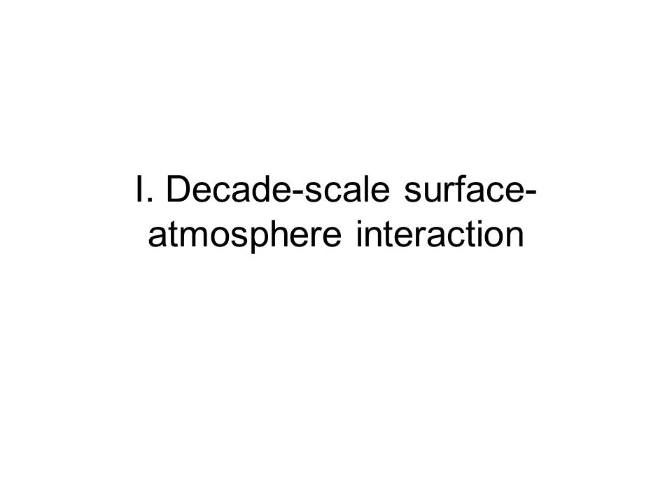 I. Decade-scale surface- atmosphere interaction
