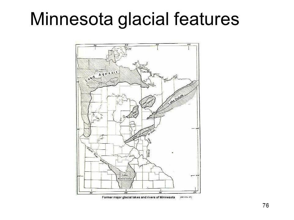 76 Minnesota glacial features