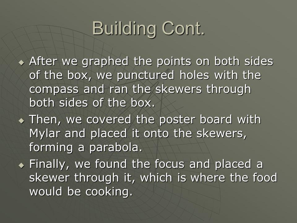Building Cont.