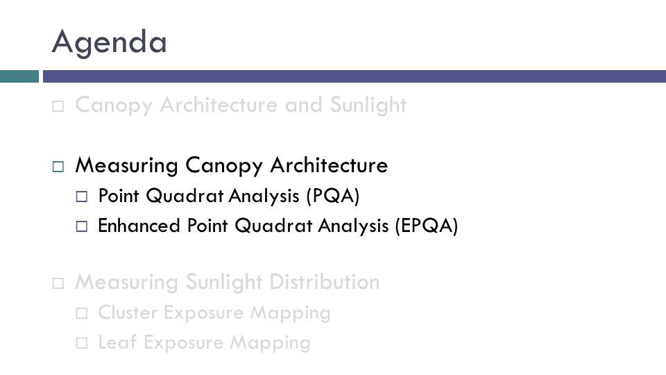 Point Quadrat Analysis (PQA)  What is PQA.