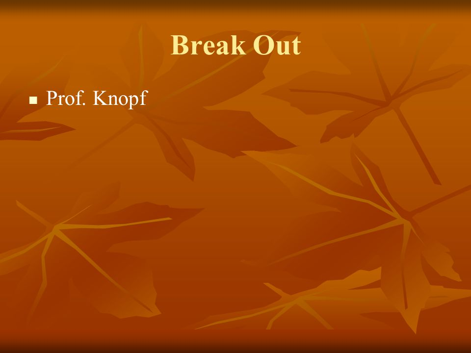 Break Out Prof. Knopf