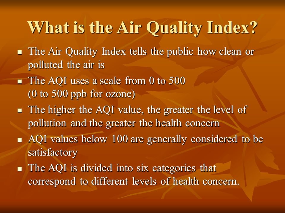 What is the Air Quality Index.