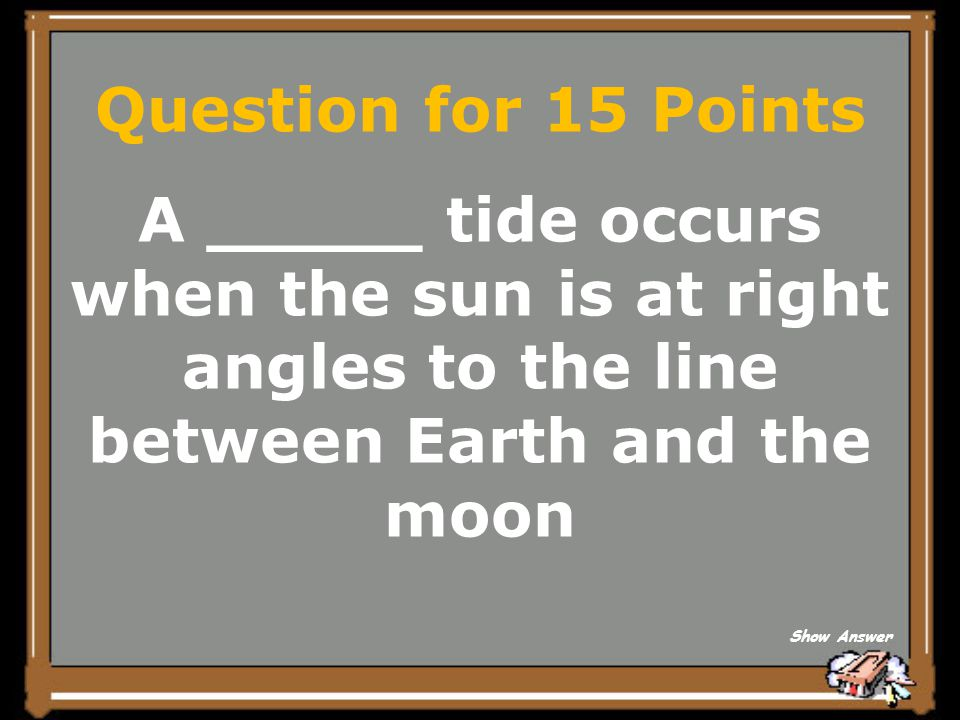 Answer for 10 Points Orbit Back to Board