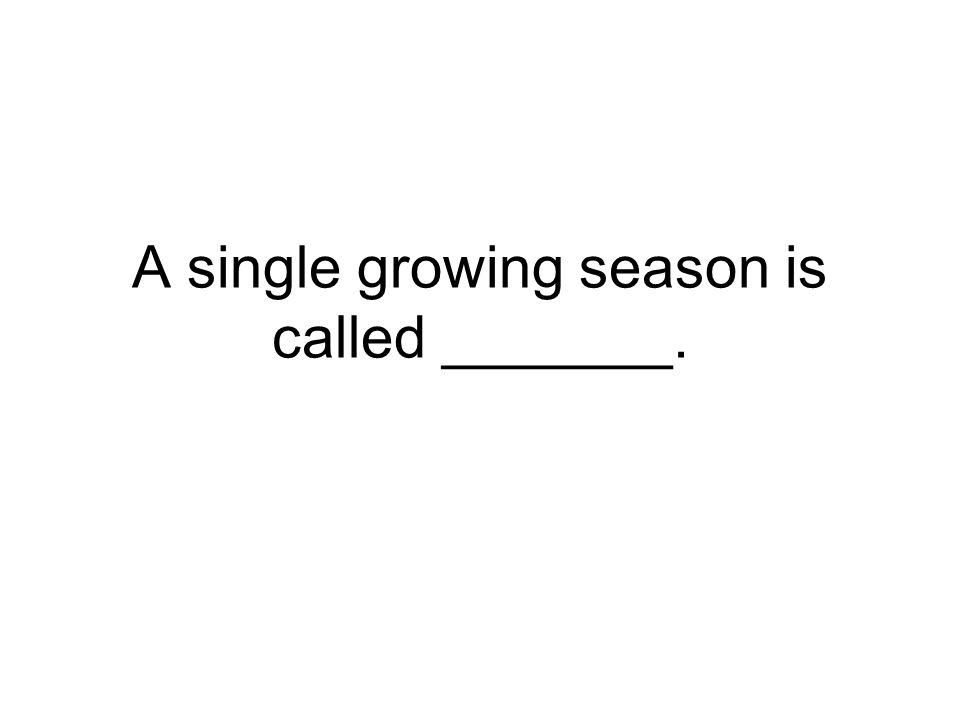 A single growing season is called _______.