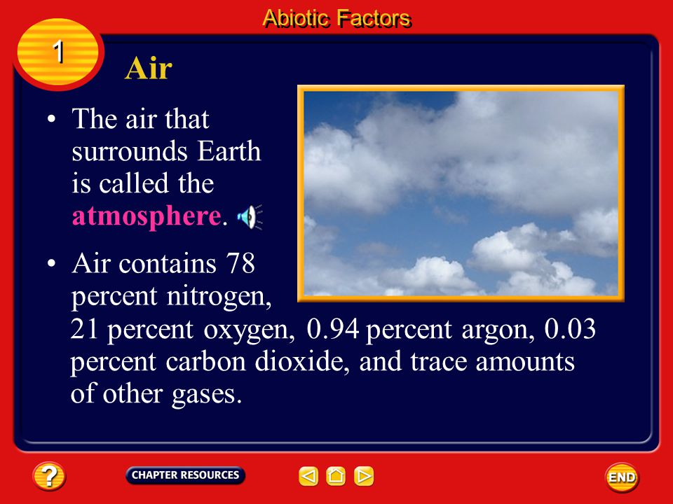 The air that surrounds Earth is called the atmosphere.