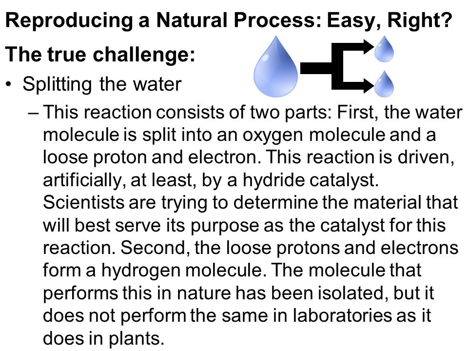 Reproducing a Natural Process: Easy, Right.