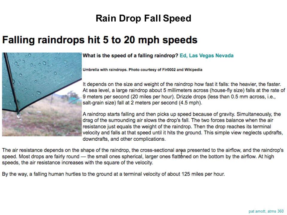 pat arnott, atms 360 Rain Drop Fall Speed