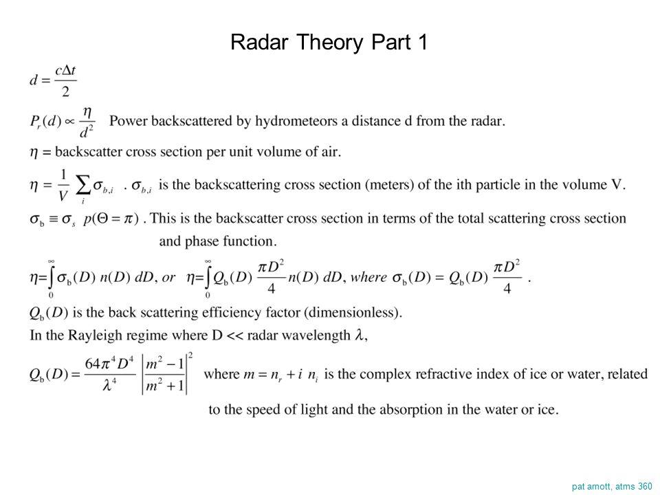 pat arnott, atms 360 Radar Theory Part 1