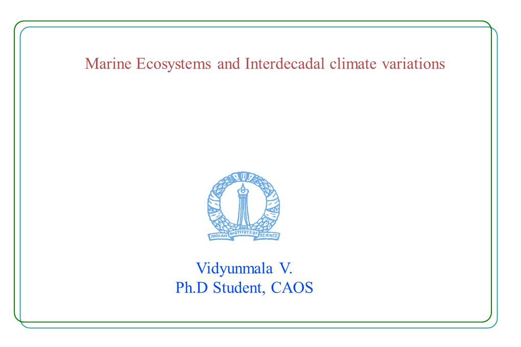 How does the Ocean-biology effect the Pacific Inter-decadal Climate Variability.