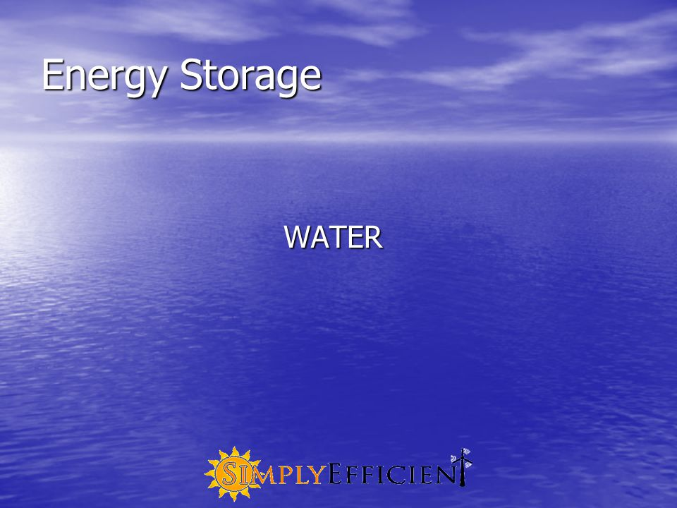 Energy Storage WATER