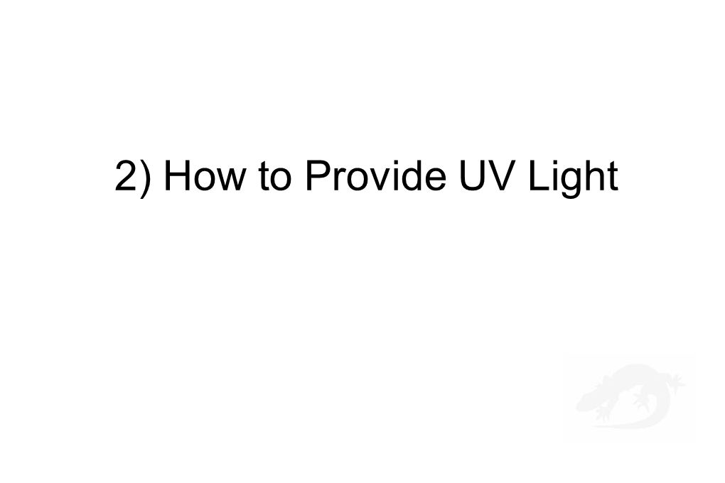 2) How to Provide UV Light