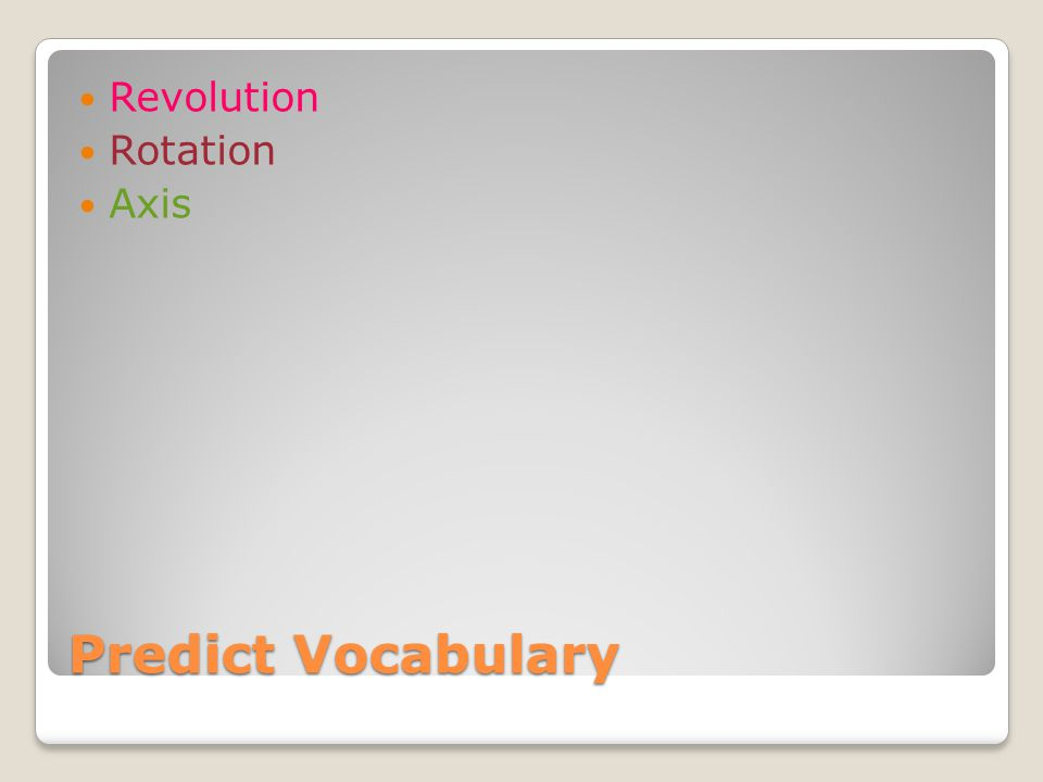 Actual Definition Rotation The action of turning about on an axis.