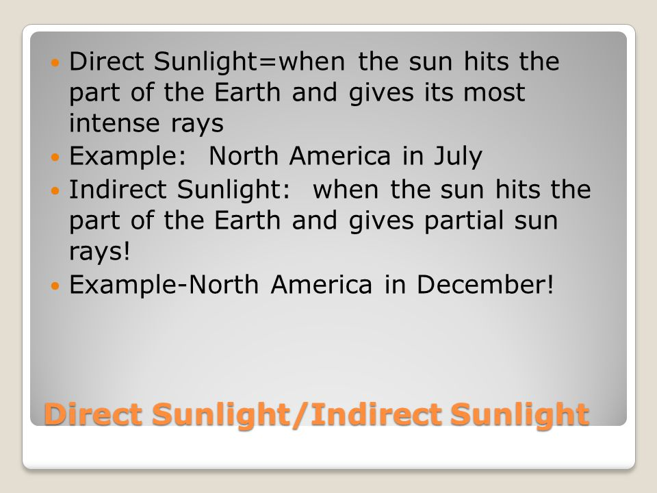 Seasons Response Rubric 7 Points The position of Earth and Sun in space dictate the seasons The sun is a star that and the Earth is a sphere that is tilted on an axis Earth's axis is always tilted in the same direction as it revolves around the sun Sun's rays hit the Earth at different angles Axis that faces the sun has summer-Direct Sunlight (absorbs the sun's rays) Axis that faces away from the sun has winter (indirect sunlight (scattered sunlight) When the Earth's axis is not tilted towards or away from the sun, direct sunlight hits the equator creating similar conditions in both hemispheres so Spring and Fall occur.