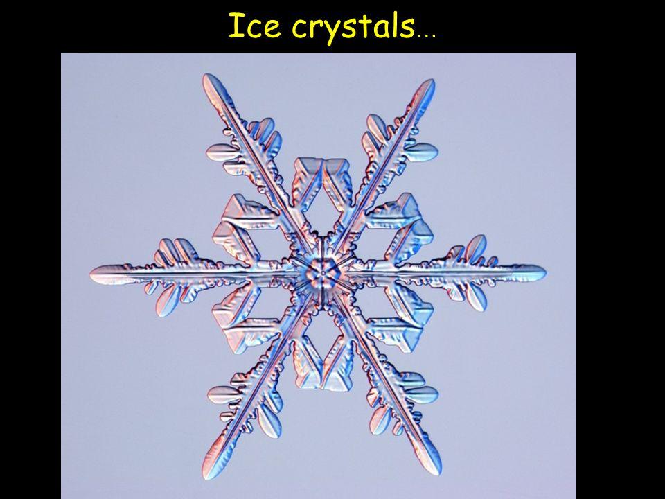 Ice crystals …