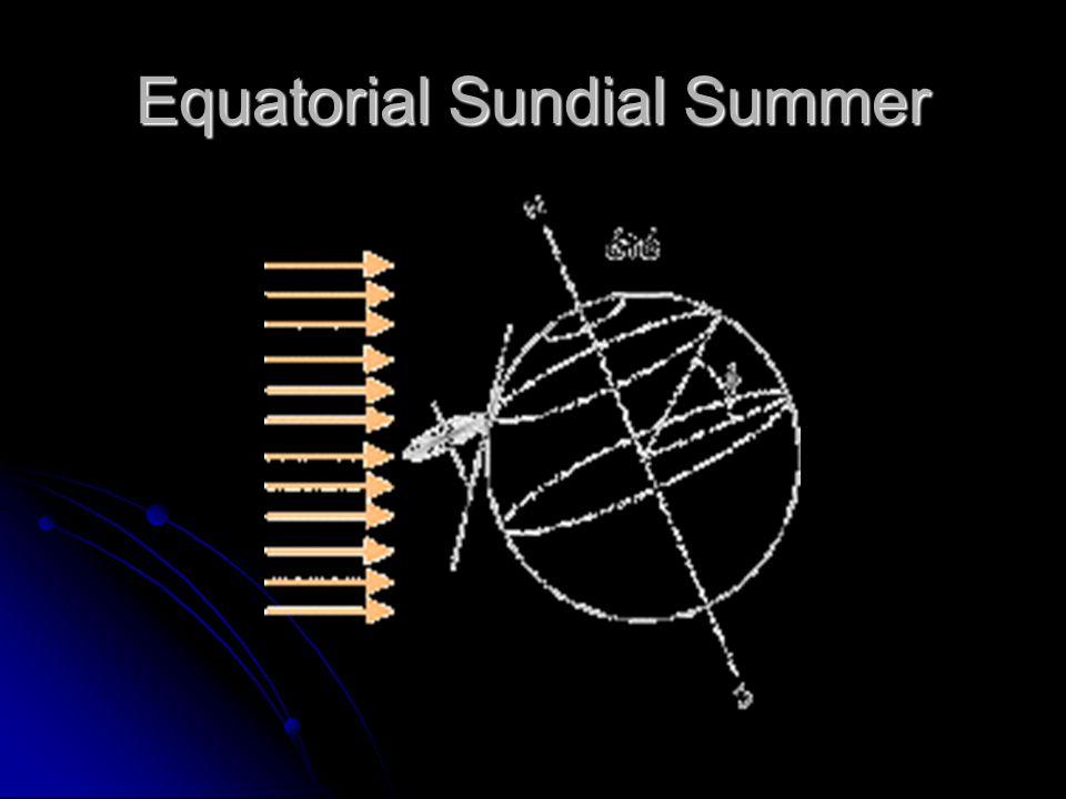 Equatorial Sundial Summer