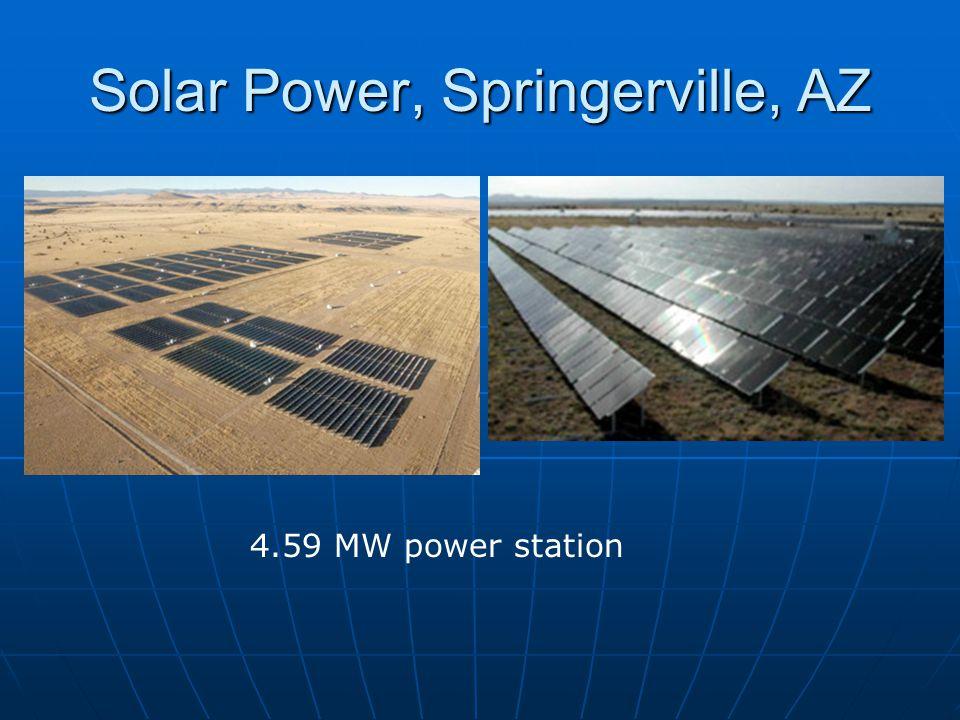 Solar Power, Springerville, AZ 4.59 MW power station