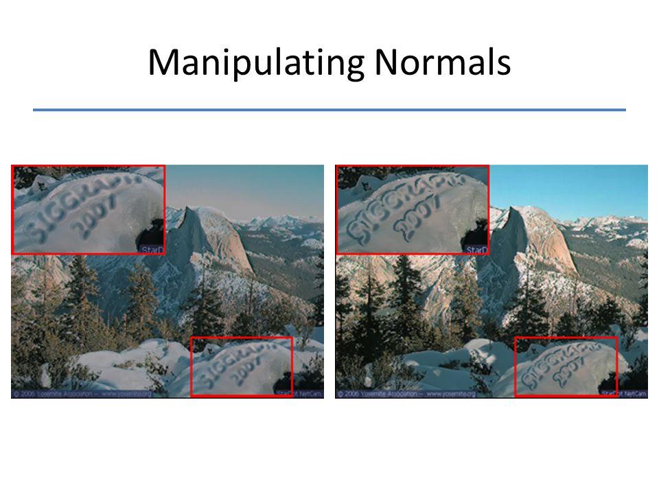 Manipulating Normals