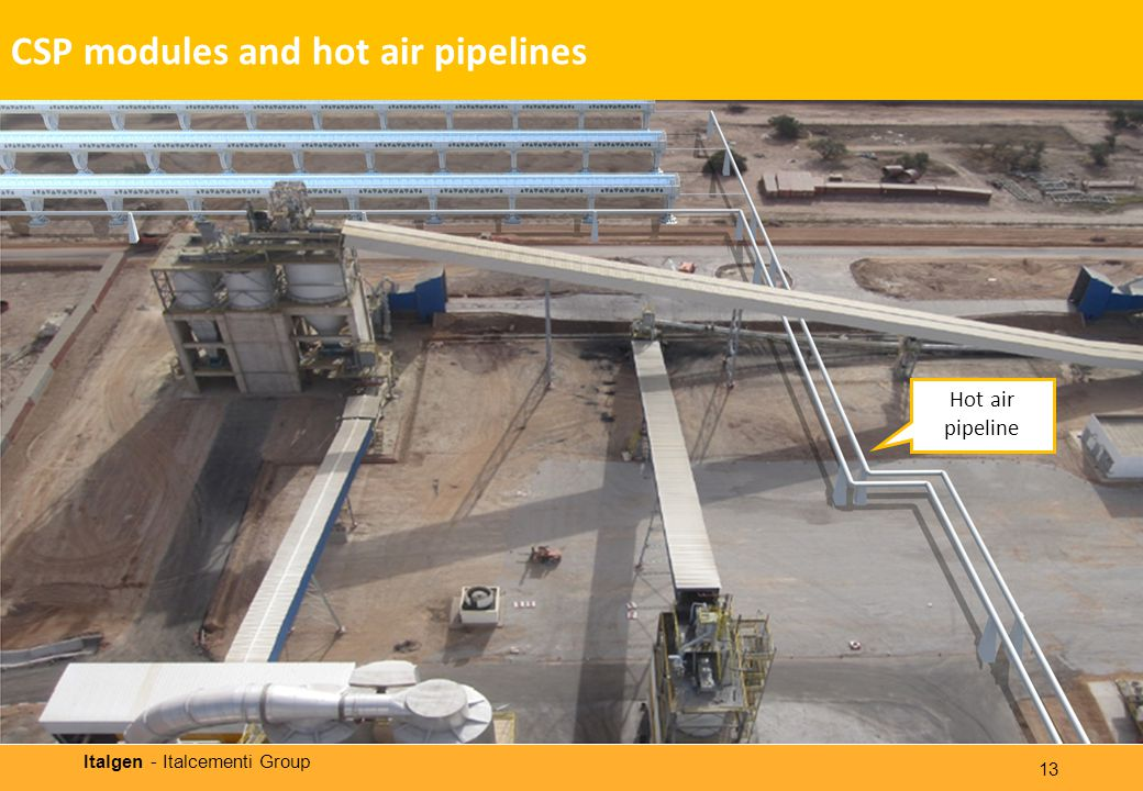 Italgen - Italcementi Group 13 Hot air pipeline CSP modules and hot air pipelines