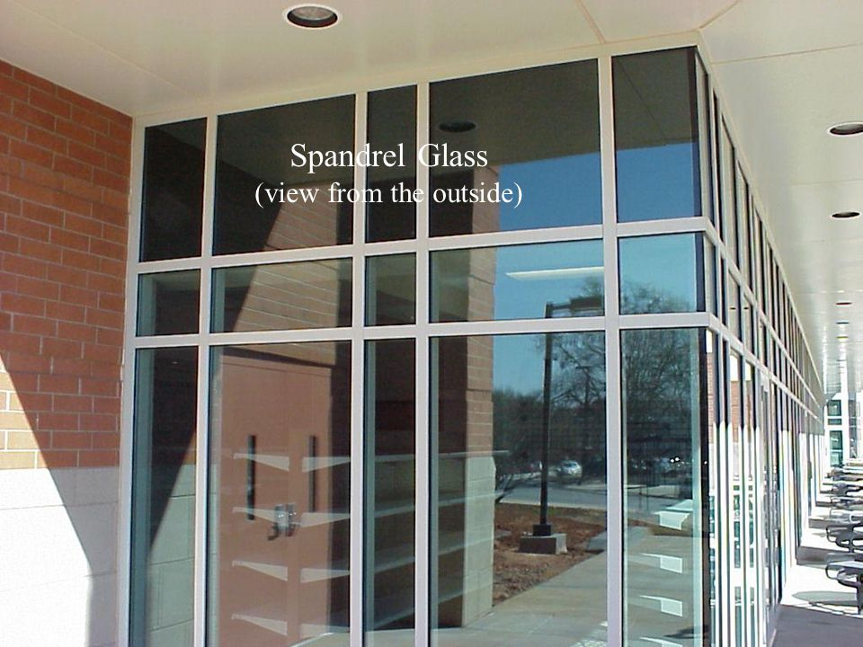 Spandrel Glass (view from the outside)