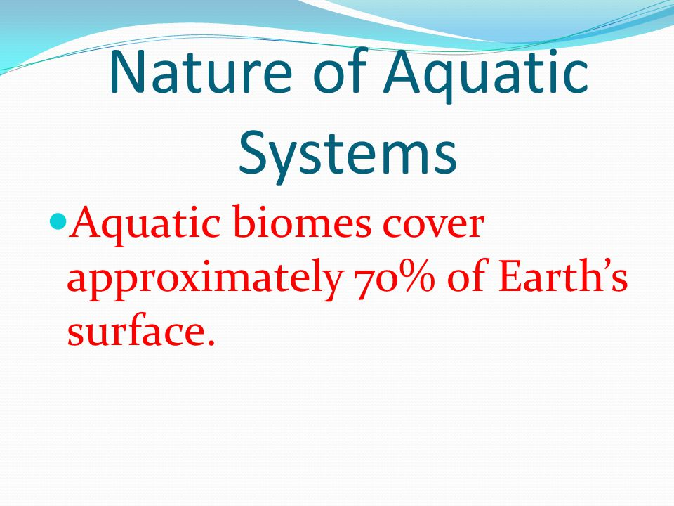 What vital roles do aquatic systems play .