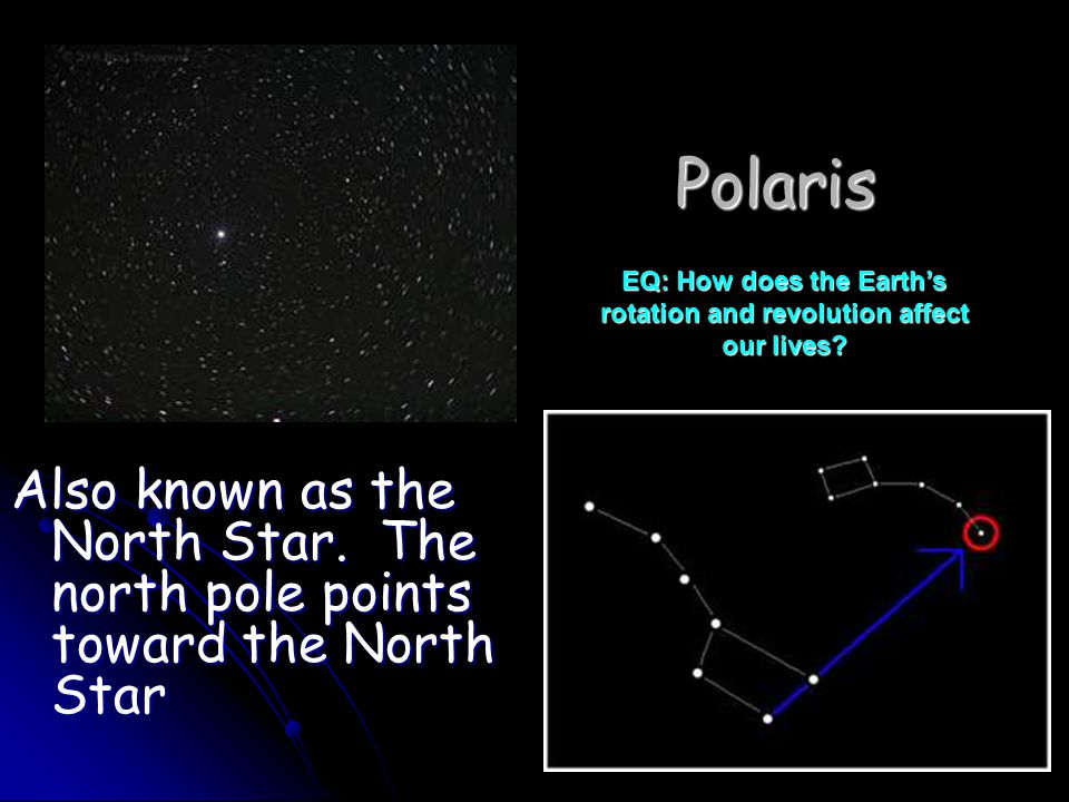 Polaris Also known as the North Star.