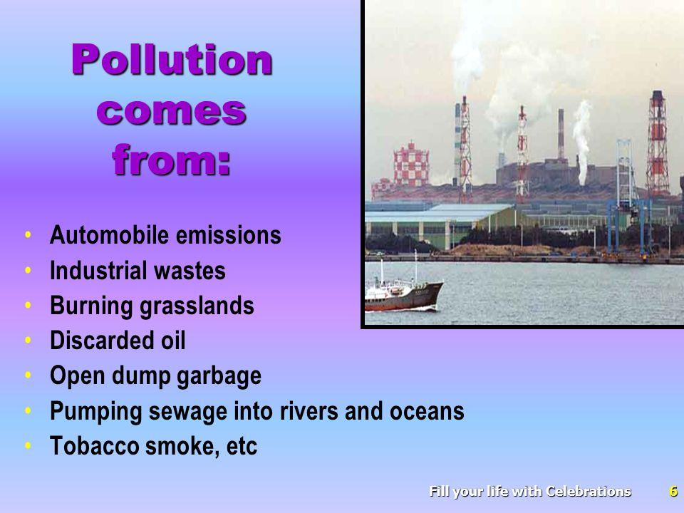 Community attitudes regarding pollution begin with the individual .